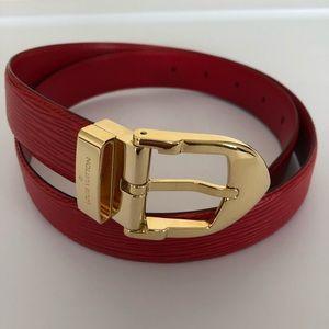 Louis Vuitton Red Epi Leather Belt - Size 110/44
